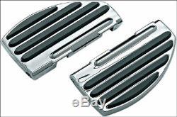 Kuryakyn Passenger Rear ISO-Floorboards Boards for Harley FLH FLST FLD Chrome