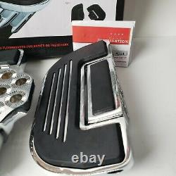 Kuryakyn Premium Chrome Floorboards Driver Rider Passenger Set Pair Harley FOR