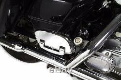 Mutazu Streamliner Style Chrome Passenger Floor board 4 Harley Davidson Touring