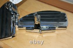 NEW withTAG chrome rider/passenger motorcycle accessory floorboard ISO METRIC