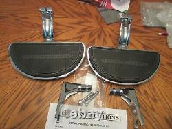OEM Harley Davidson Heritage Softail Chrome Passenger Floorboard Kit- 2000 up