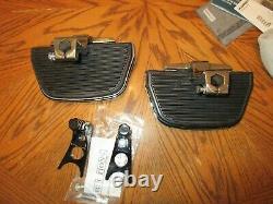 OEM Harley Davidson Softail Chrome Passenger Floorboard Kit- New Covers 2000 up