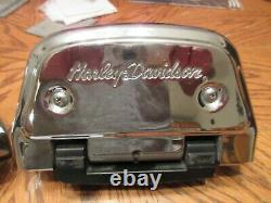 OEM Harley Davidson Softail Passenger Floorboard KIT HD Script covers 2000-2017