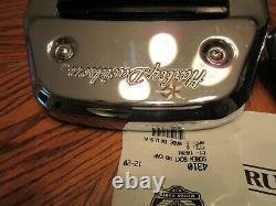 OEM Harley Davidson Softail Passenger Floorboard KIT HD Script covers -2000 up