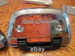 OEM Harley Davidson Softail Passenger Floorboard KIT-HD W Script covers -2000-17