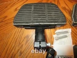 OEM Harley Davidson Softail Passenger Floorboard KIT W HD Script covers -2000-16