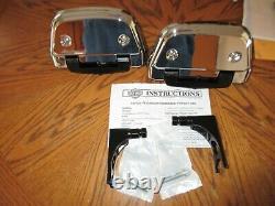 OEM Harley Davidson Softail Passenger Floorboard Kit CHROME Covers -2000 up