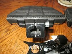 OEM Harley Davidson Softail Passenger Floorboard Kit With Chrome Script Covers
