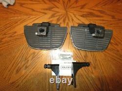 OEM Harley Davidson Softail Passenger Floorboards Kit Chrome Covers 2000 up