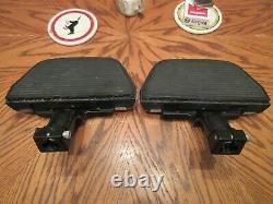 OEM Harley Davidson Softail Passenger Floorboards With HD Script Chrome Covers