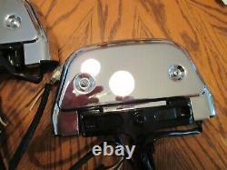 Oem Harley Davidson Touring Passenger Red Lighted Floor Board Kit Chrome Covers
