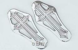 PREC. BILLET Darkside Rider Billet Floorboards Chrome DRK-410-ALL-CHR