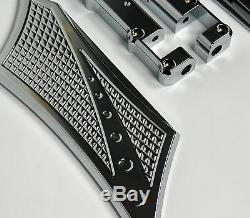 Rear Passenger Floorboards Baggers Chrome-E-O Show Chrome, Harley