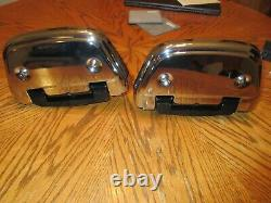 Rebuilt OEM Harley Touring Electra Ultra Passenger Floorboards-New Chrome Covers