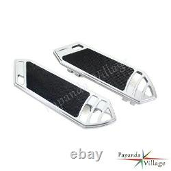 Smooth Rider Front FootBoard Floorboard For Harley Touring Softail 84-15 Chrome