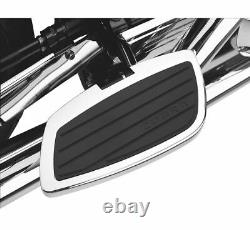 Swept Passenger Floorboards Chrome/Black 06-4760 For 1900 Roadliner Stratoliner